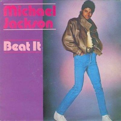 Michael Jackson Beat It album cover