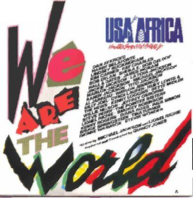 Usa For Africa We Are The World album cover