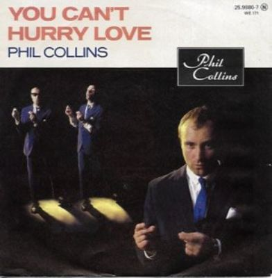 Phil Collins You Can't Hurry Love album cover